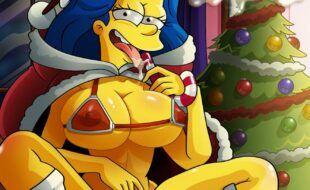 Os Simpsons em Festa natalina pura sacanagem