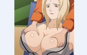 Naruto mama nos peitões de Tsunade