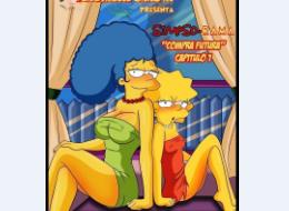 Simpsons e Futurama sexo grupal - 01